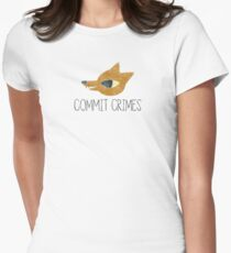 Night In The Woods - Commit Crimes - Black Dirty Womens Fitted T-Shirt