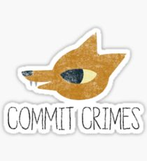Night In The Woods - Commit Crimes - Black Dirty Sticker