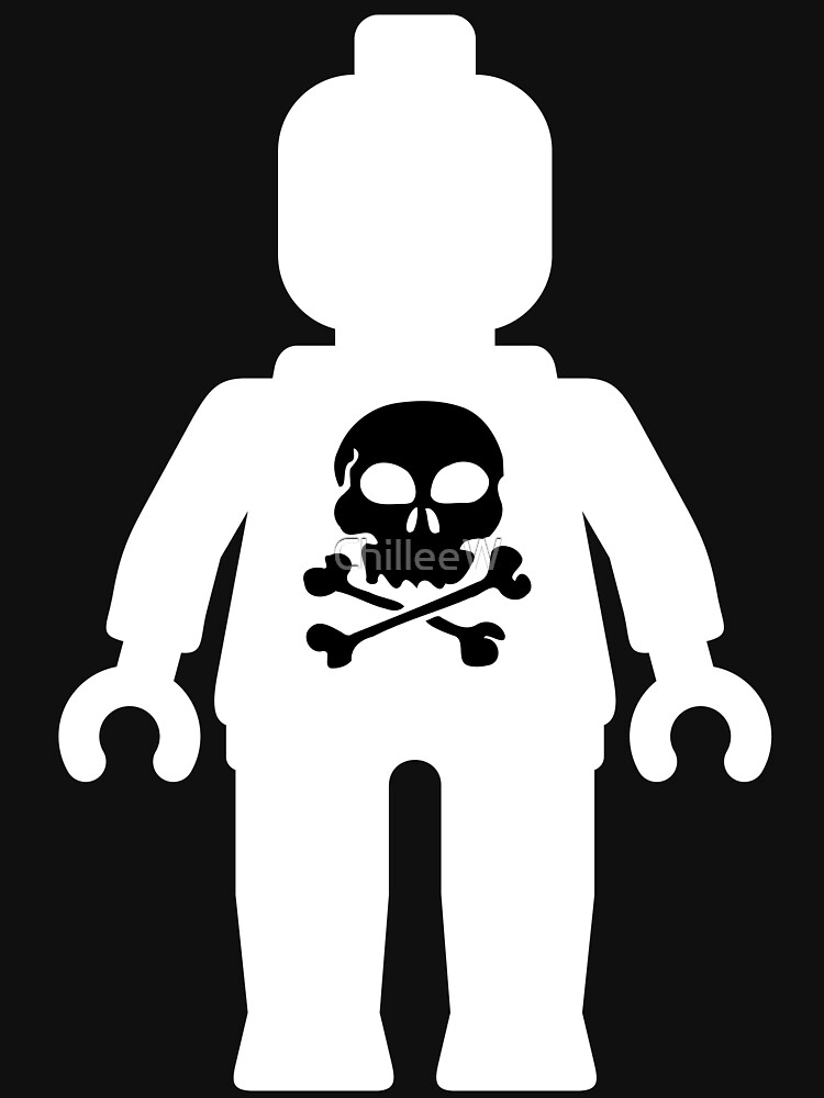 Minifig with Skull  by ChilleeW