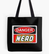 Danger Nerd Sign Tote Bag