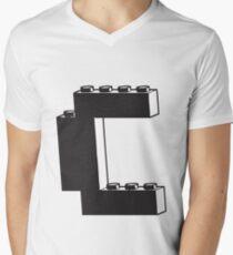THE LETTER C Mens V-Neck T-Shirt