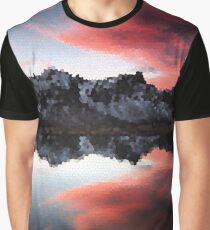 Fractal Scapes - Lake Reflection Graphic T-Shirt