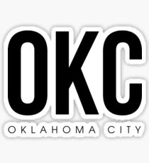 OKC - Oklahoma City Airport Code Sticker
