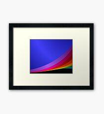 Shiny rainbow Framed Print