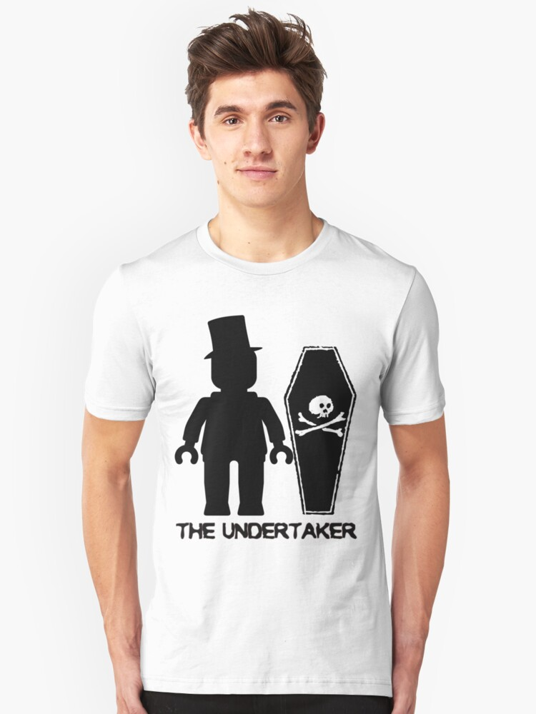 THE UNDERTAKER, by Customize My Minifig Unisex T-Shirt Front