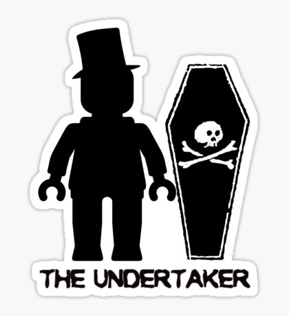 THE UNDERTAKER, by Customize My Minifig Sticker
