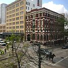 Street Corner in Houston by Christine  Wilson
