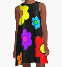 Pop Flowers A-Line Dress