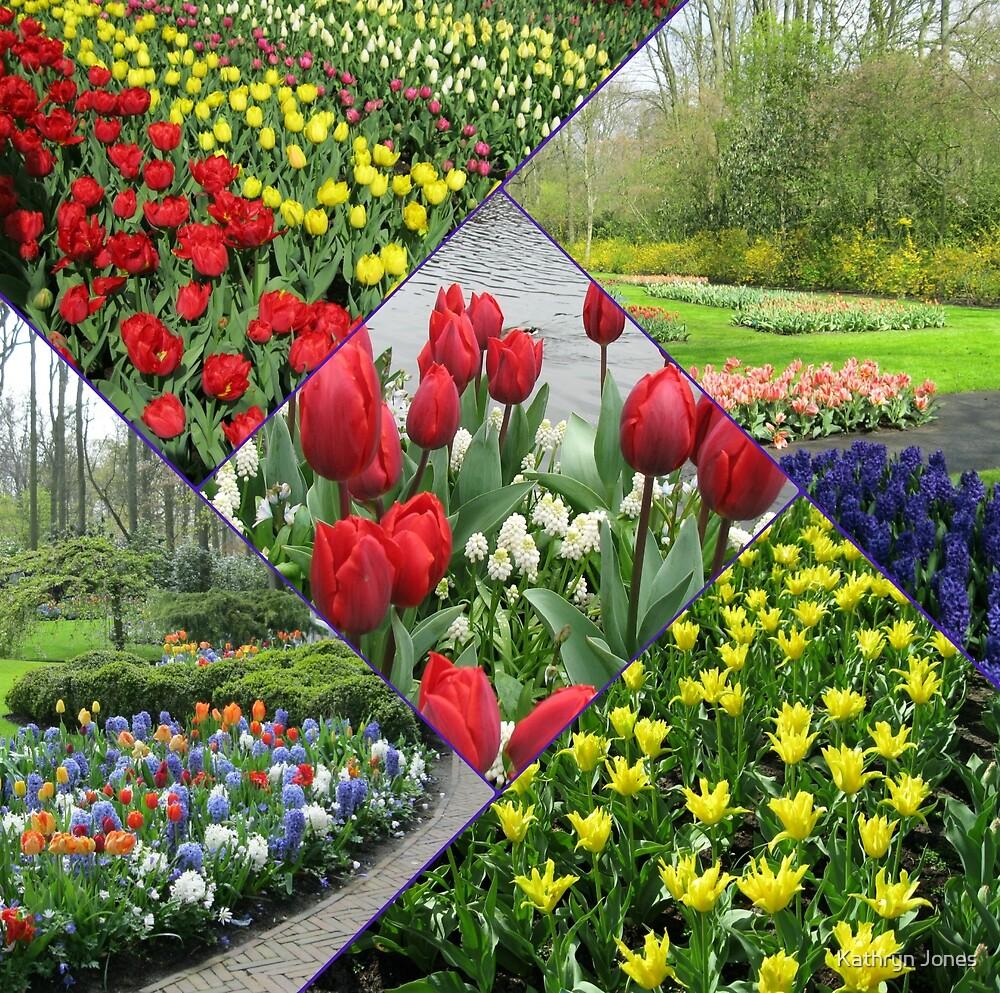 Tulips and Hyacinths - Keukenhof Collage by Kathryn Jones