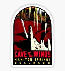 Cave of the Winds Colorado Vintage Travel Decal Sticker
