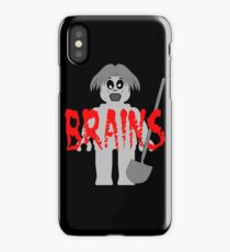 """Zombie Minifig """"BRAINS"""", by Customize My Minifig iPhone Case"""