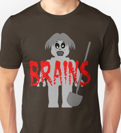 """Zombie Minifig """"BRAINS"""", by Customize My Minifig T-Shirt"""