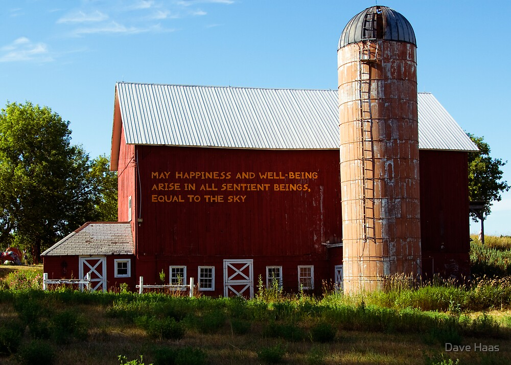 Barn with a message by Dave Haas