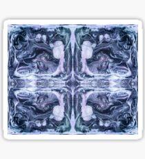 Abstract Ink Design Pattern Ink Swirl Figures Sticker