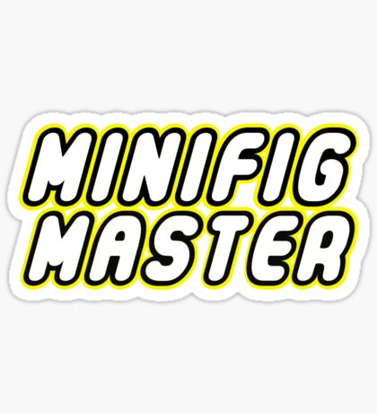 MINIFIG MASTER, by Customize My Minifig Sticker
