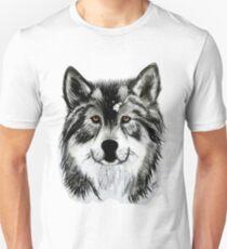 Black and White Wolf Unisex T-Shirt