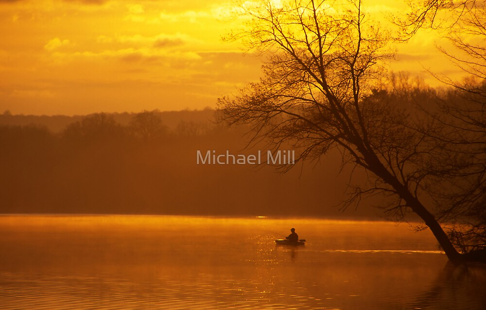 Fishing from a Kayak by Michael Mill