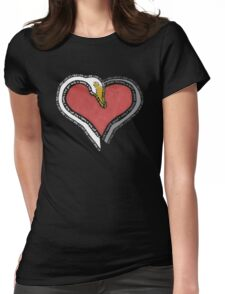 Captain Swan Heart  Womens Fitted T-Shirt
