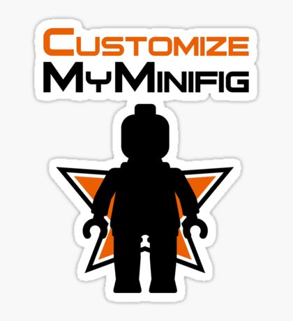 Black Minifig Standing, in front of Customize My Minifig Logo Sticker
