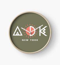Reloj Adirondacks New York Diseño geométrico