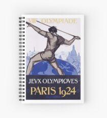 Paris 1924 Olympics Poster Spiral Notebook