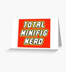 TOTAL MINIFIG NERD Greeting Card