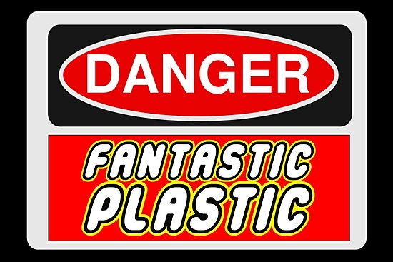 Danger Fantastic Plastic Sign by Customize My Minifig
