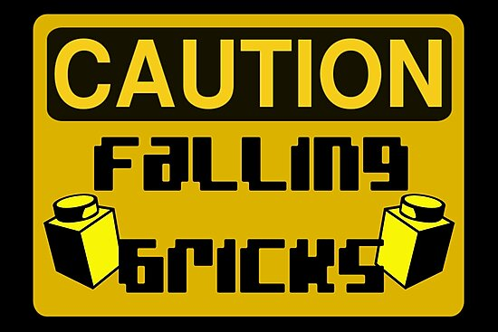 Caution Falling Bricks by Customize My Minifig