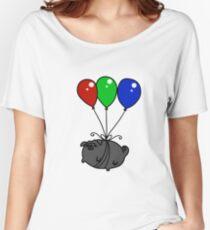 Black Balloon Pug Women's Relaxed Fit T-Shirt