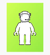 Banksy Style Astronaut Minifig  Customize My Minifig Photographic Print