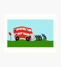 Pensioners wait for the bus Art Print