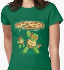 Delicious Disk Attack - Ninja Turtles Women's Fitted T-Shirt