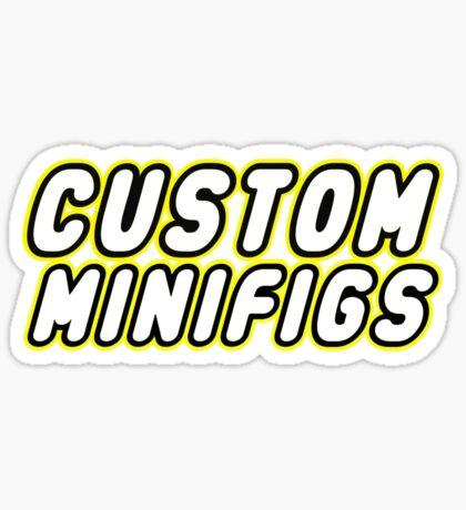 CUSTOM MINIFIGS Sticker