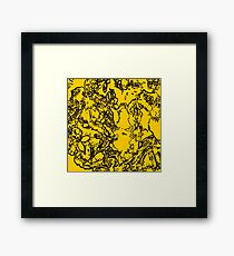 Yellow Bumble  Framed Print