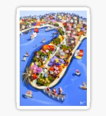 Blue water jetty Sticker