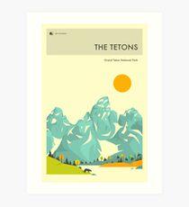 THE TETONS Art Print