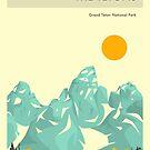 GRAND TETON NATIONAL PARK by JazzberryBlue