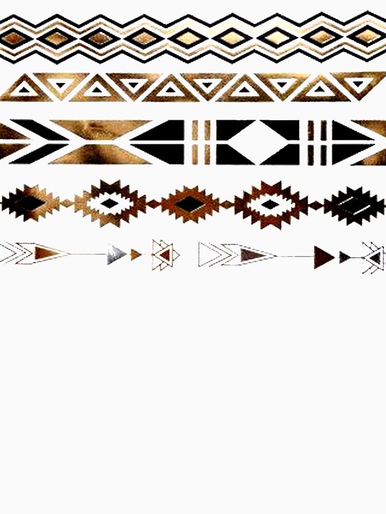 Tribal Aztec Gold y Black Design de NancyAnnDesign
