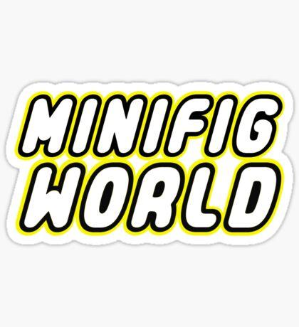 MINIFIG WORLD, Customize My Minifig Sticker