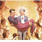 The Holy Sportacus and Baby Jesus by Reuben F