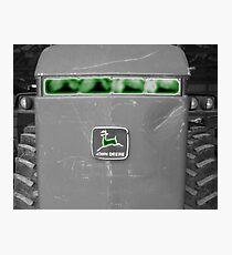 Farm Tractor John Deere Photograph Design Photographic Print