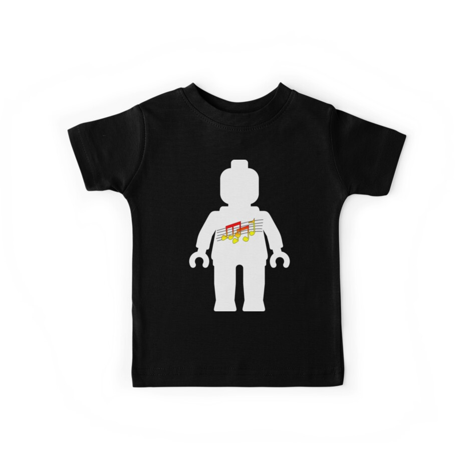 White Minifig with Music Log, Customize My Minifig by ChilleeW