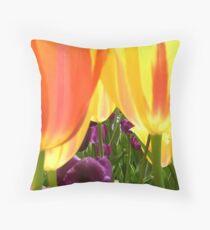 Tulip Gardn III Throw Pillow