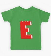 THE LETTER E, Customize My Minifig Kids Tee