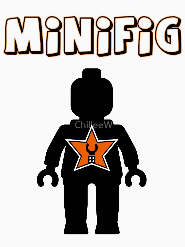 Minifig [Black], Customize My Minifig Star Logos by ChilleeW
