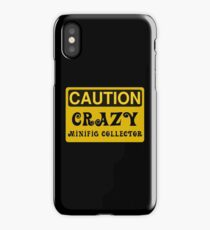 Caution Crazy Minifig Collector Sign iPhone Case/Skin