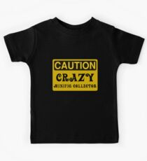 Caution Crazy Minifig Collector Sign Kids Tee