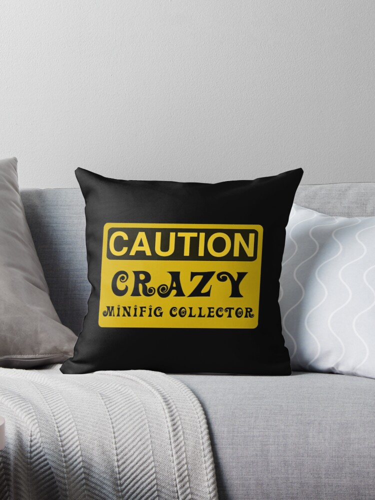Caution Crazy Minifig Collector Sign by Customize My Minifig