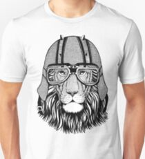 Wild angry lion T-shirt for biker, motorcycle. Great gift for biker T-Shirt