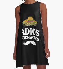 Adios Bitchachos Funny Mexican T Shirt P A-Line Dress